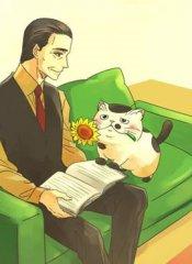 大叔与猫漫画
