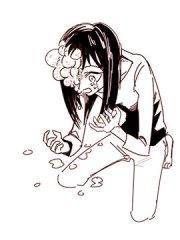 女孩与面疮漫画