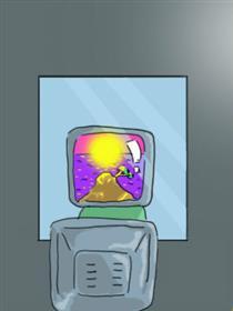 马桶冲不下去是因为它饱了漫画